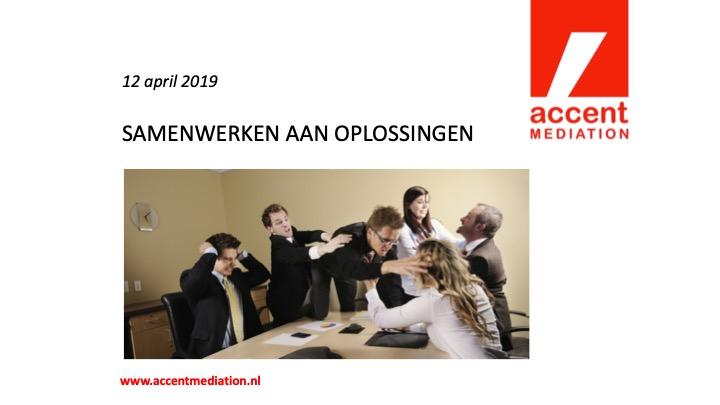 """Workshop """"Samen werken aan oplossingen"""""""